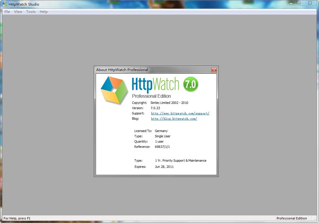 httpwatch pro(网页数据分析工具) v7.0.23 汉化版 0