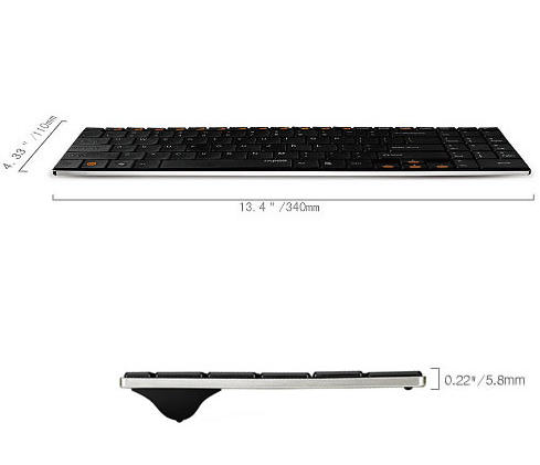 雷柏无线超薄键盘e9070驱动  0