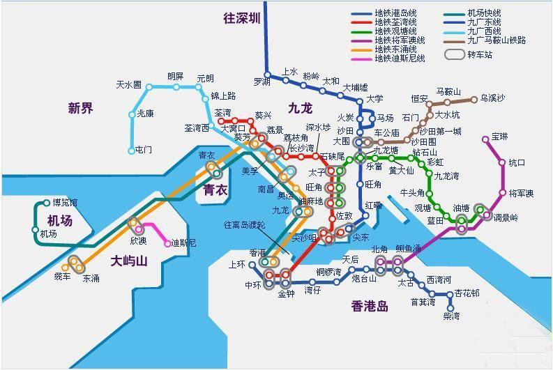香港地图 行政区划地图辖区边界 沙田