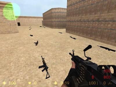 反恐精英cs1.6捡枪地图