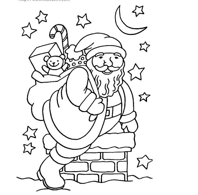 圣诞老人简笔画大全