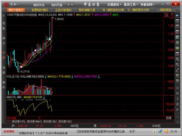 华泰证券股票期权全真模拟交易系统(澎博)