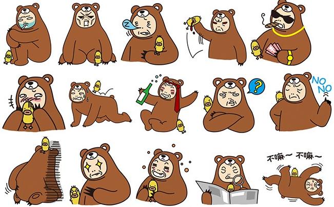 熊妥妥和喱噜表情包