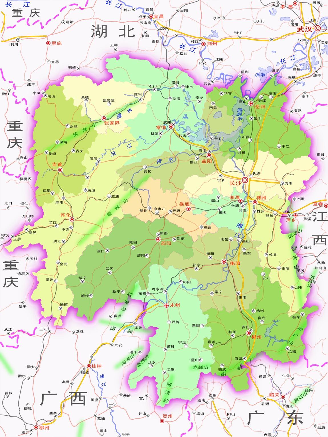 湖南省地图全图