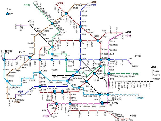 天津地铁线路图2017  0