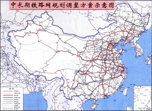 2017中国铁路地图高清版大图 免费版