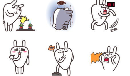 屌丝兔日常qq表情包是一只霸气侧漏的兔子,绿色小裤衩完全遮不住他
