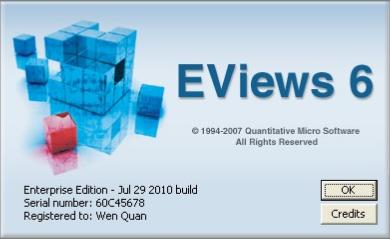 eviews6.0免费版(计量经济学软件) 1