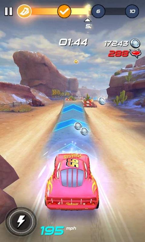 汽车总动员闪电传说无限钻石i破解版 v1.04 安卓无限金币版 1