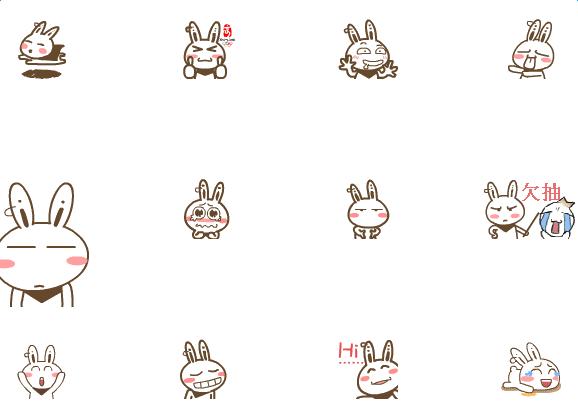 达达兔表情包下载 达达兔qq表情包大全下载_ 当易网图片
