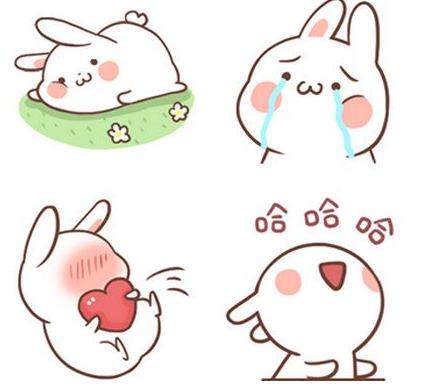 兔白白微信表情黄子韬带表情图片包字搞笑图片
