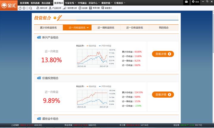 华创证券金汇证券分析系统 v2.0.22 最新版 1