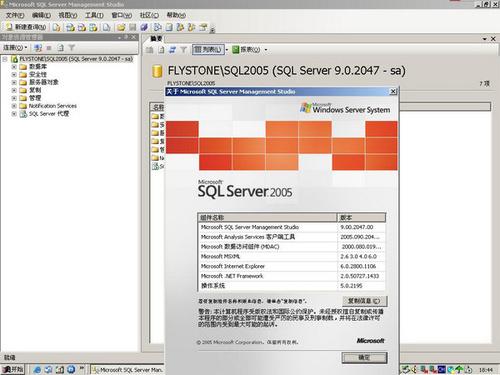 microsoft sql server 2005数据库 32/64位 0