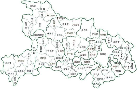 湖北省行政地图全图 高清电子版图片