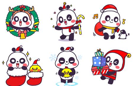 萌萌熊圣诞动态qq表情包图片