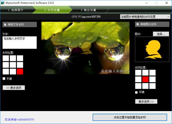 图片批量水印大师 v3.7 免费版 0