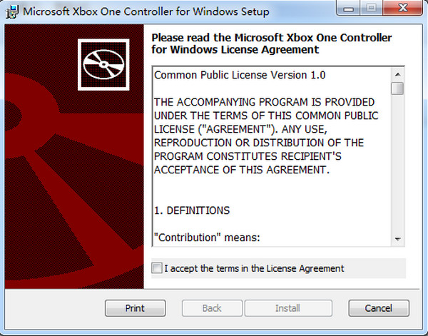 Xbox One游戏手柄驱动 win7/10 0