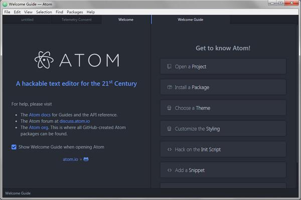 Atom代码编辑器 v1.46.0 最新版 1