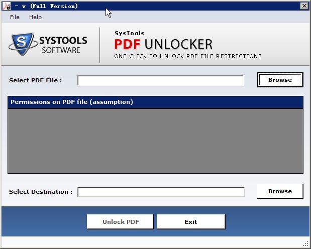 SysToolsPDFUnlocker