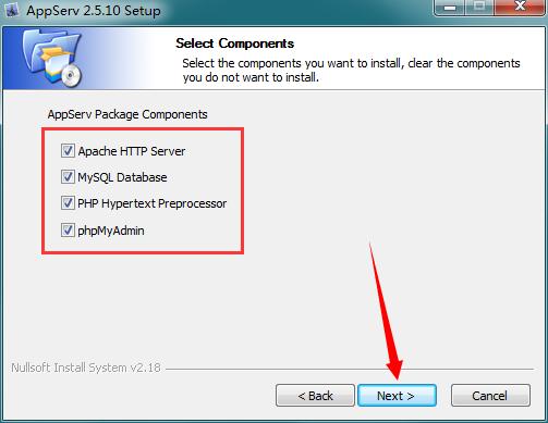 AppServ(PHP建站工具包集) V2.5.9 绿色版 2