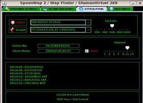 spoonwep2中文包(破解WEP无线网络密码的工具)
