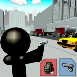 三維城市火柴人射擊最新版(stickman city shooting 3d)
