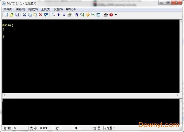 c语言编程软件mytc v5.4.1 免费版 1
