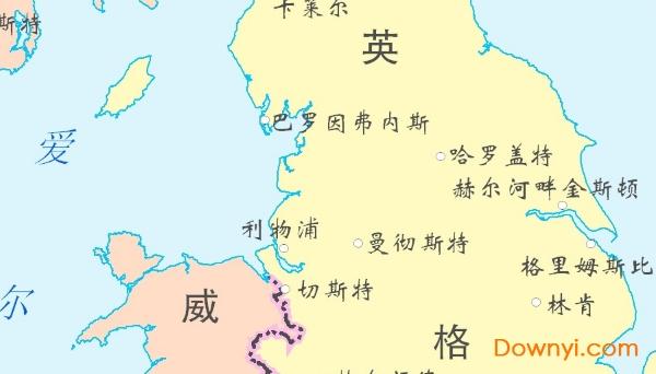 英国地图全图下载 英国地图高清中文版下载 当易网