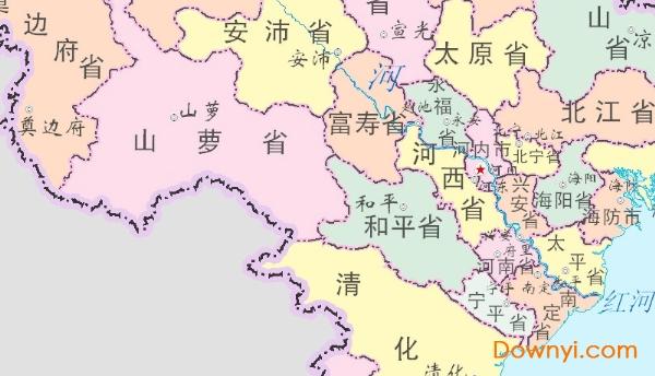 三国详细地图全图高清版_越南地图中文版下载|越南地图高清版大图下载免费版_ 当易网