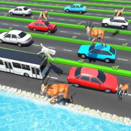公路上的动物手游