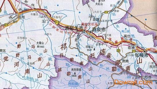 甘肃交通地图高清版大图下载