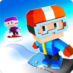方块单板滑雪中文汉化版(blocky snowboarding)