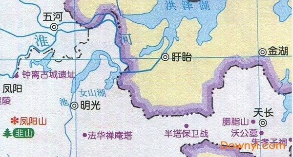 安徽省旅游地图全图高清版 免费版