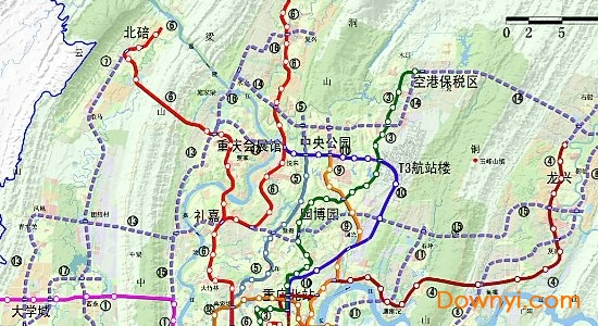 重庆轨道交通规划图高清版下载 重庆轨道交通规划图2020版下载最新版 当易网