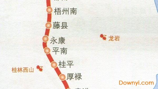 南广高铁线路图及站点图