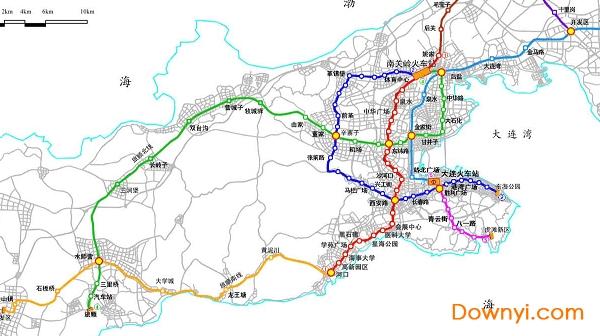 大连地铁规划图高清版下载 大连地铁线路规划图下载 当易网