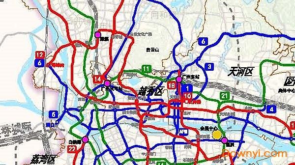 广州地铁规划线路图下载