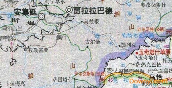 新疆西部旅游地图高清版下载