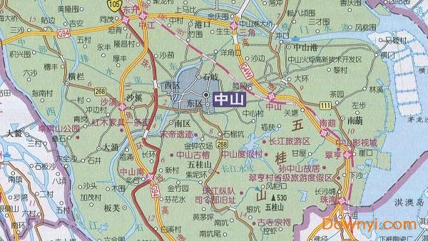 中山地图全图高清版下载 广东省中山市地图全图下载最新免费版 当易网图片
