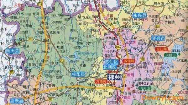 湖南郴州宜章县_郴州地图全图下载|湖南郴州地图下载高清版_ 当易网