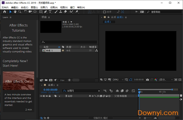 adobe after effects cc 2019 破解版(aecc 2019) v16.0.1.49 中文直装版 0