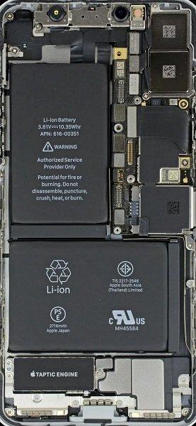 苹果手机内部透明壁纸