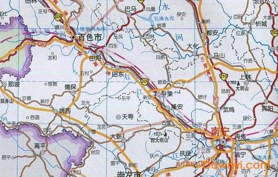广西玉铁高速公路图_广西交通地图高清版下载 广西交通地图2018下载绿色版_ 当易网