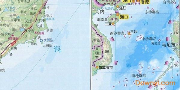 海南省地图全图大图
