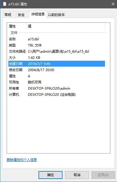 a15.tbl文件