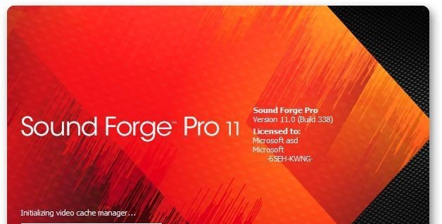 sound forge pro11中文破解版