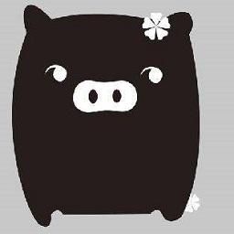 黑白猪qq表情包
