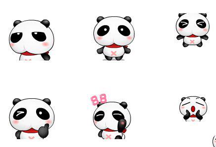 可爱的小熊猫qq表情包 免费版