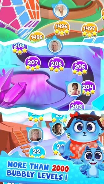 分享属于你的小猫咪,超过2000多个泡泡龙闯关等级,休闲游戏也是打发
