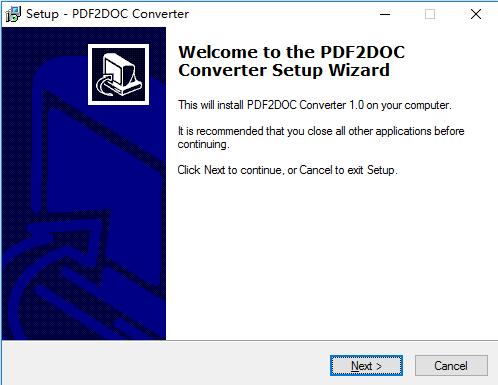 pdf2doc converter(pdf转word文件格式) 免费版 0